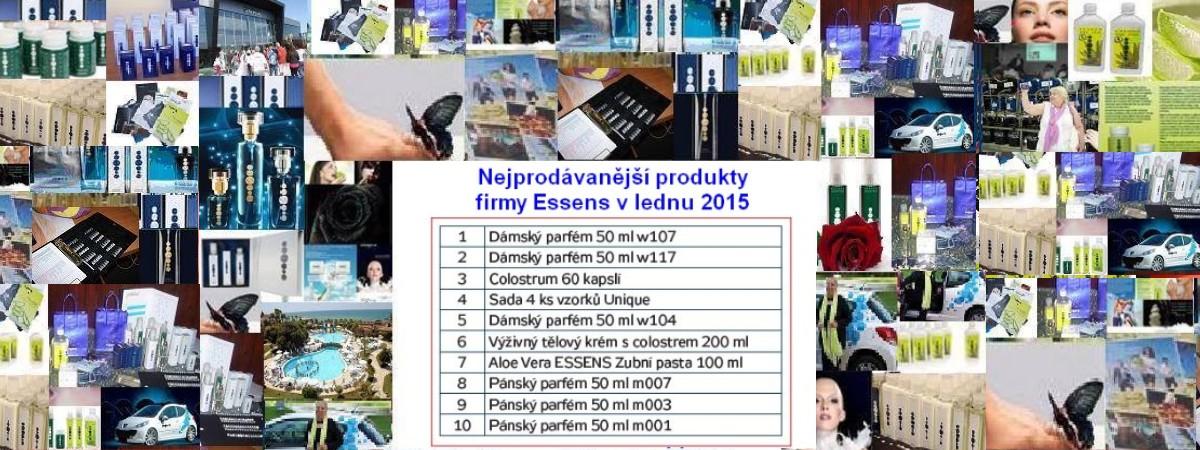 Top10 nejprodávanějších Essens produktů - leden 2015